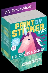 Paint by Sticker Kids: Unicorns & Magic 8-copy counter display