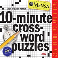 Mensa 10-Minute Crossword Puzzles Page-A-Day Calendar 2022