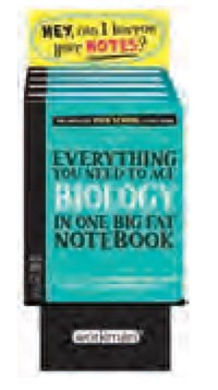6-copy counter display Everything You Need to Ace Biology in One Big Fat Notebook