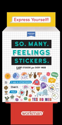 8-copy counter display So. Many. Feelings Stickers.
