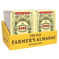24 2022 Old Farmer's Almanac Counter Display