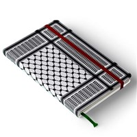 Black Kaffiyeh Pocket Journal