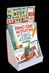 Road Trip Activities and Travel Journal for Kids 12-Copy Counter Display