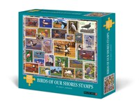 Birds of Our Shores Stamps 1000-Piece Puzzle