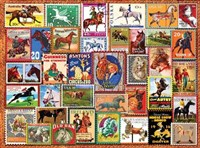 Vintage Equestrian Stamp Posters 1000-Piece Puzzle