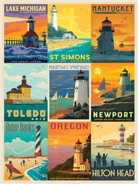 Lighthouses by Anderson Design Group 1000-Piece Puzzle