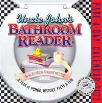 Uncle John's Bathroom Reader Page-A-Day Calendar 2022