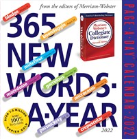 365 New Words-A-Year Page-A-Day Calendar 2022