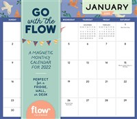 Go with the Flow: A Magnetic Monthly Calendar 2022