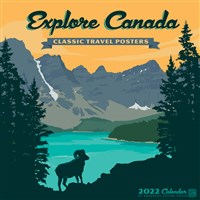 Explore Canada Art Posters 2022 Wall Calendar by Anderson Design Group