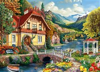 House By the Pond 1000-Piece Puzzle