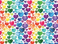 Rainbow Hearts 500-Piece Puzzle