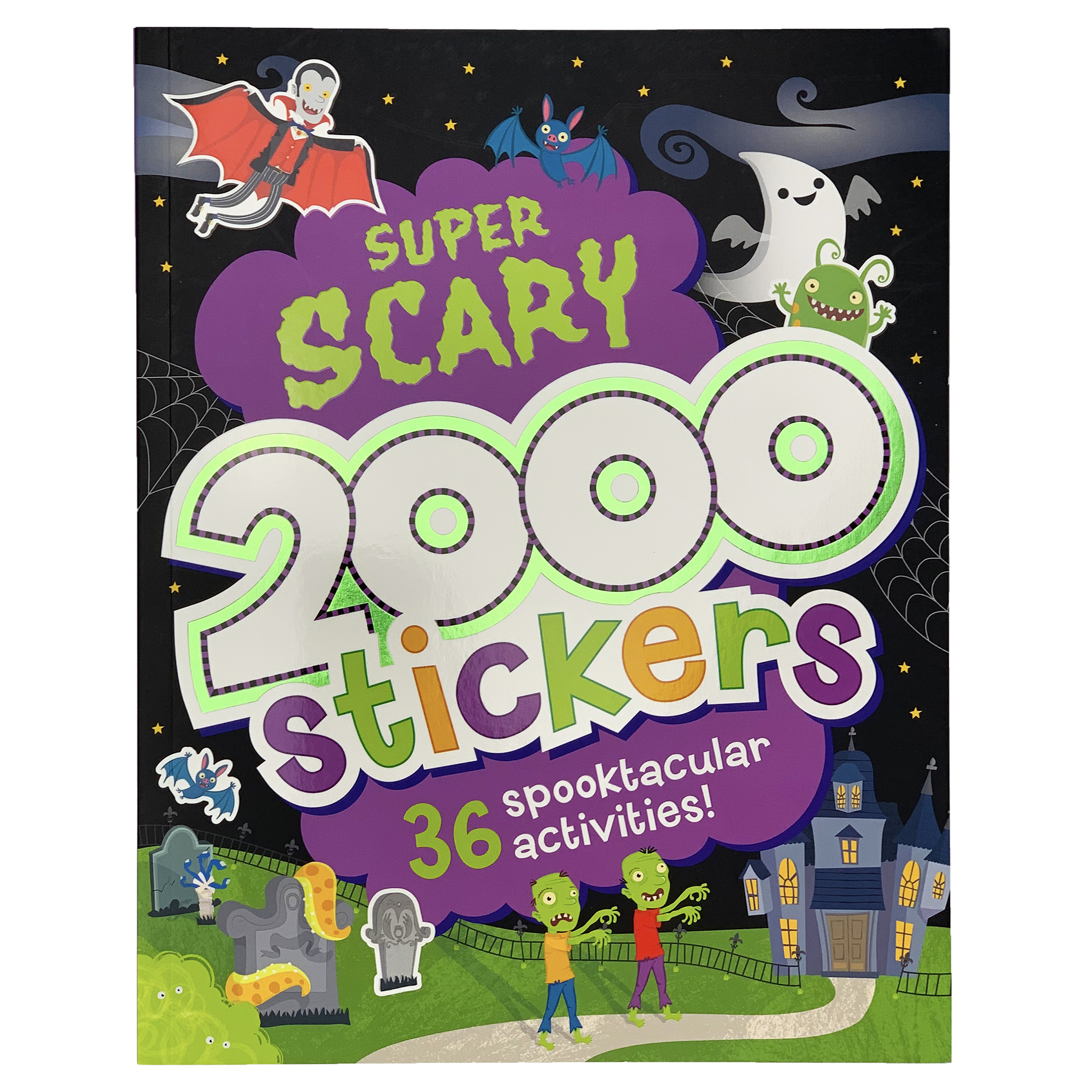 2000 Stickers Super Scary Activity Book