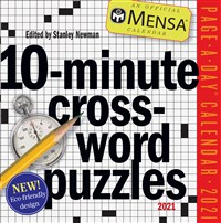 Mensa 10-Minute Crossword Puzzles Page-A-Day Calendar 2021