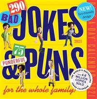 290 Bad Jokes & 75 Punderful Puns Page-A-Day Calendar 2021
