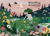 All Good Things Are Wild and Free 1,000-Piece Puzzle (Flow) Adults Families Picture Quote Mindfulness Gift