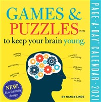 Games and Puzzles to Keep Your Brain Young Page-A-Day Calendar for 2021