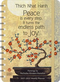 """Thich Nhat Hanh 2021 - 2022 On-the-Go Weekly Planner: 17-Month Calendar with Pocket (Aug 2021 - Dec 2022, 5"""" x 7"""" closed)"""