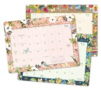 "Katie Daisy 2021 - 2022 Desk Pad Calendar (17-Month Aug 2021 - Dec 2022, 18.75"" x 13.5"")"