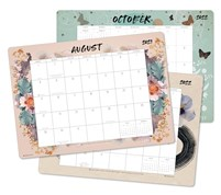 "PAPAYA 2021 - 2022 Desk Pad Calendar (17-Month Aug 2021 - Dec 2022, 18.75"" x 13.5"")"