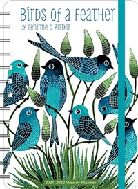 "Geninne Zlatkis 2021 - 2022 On-the-Go Weekly Planner: 17-Month Calendar with Pocket (Aug 2021 - Dec 2022, 5"" x 7"" closed): Birds of a Feather"