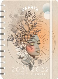 """PAPAYA 2021 - 2022 On-the-Go Weekly Planner: 17-Month Calendar with Pocket (Aug 2021 - Dec 2022, 5"""" x 7"""" closed)"""