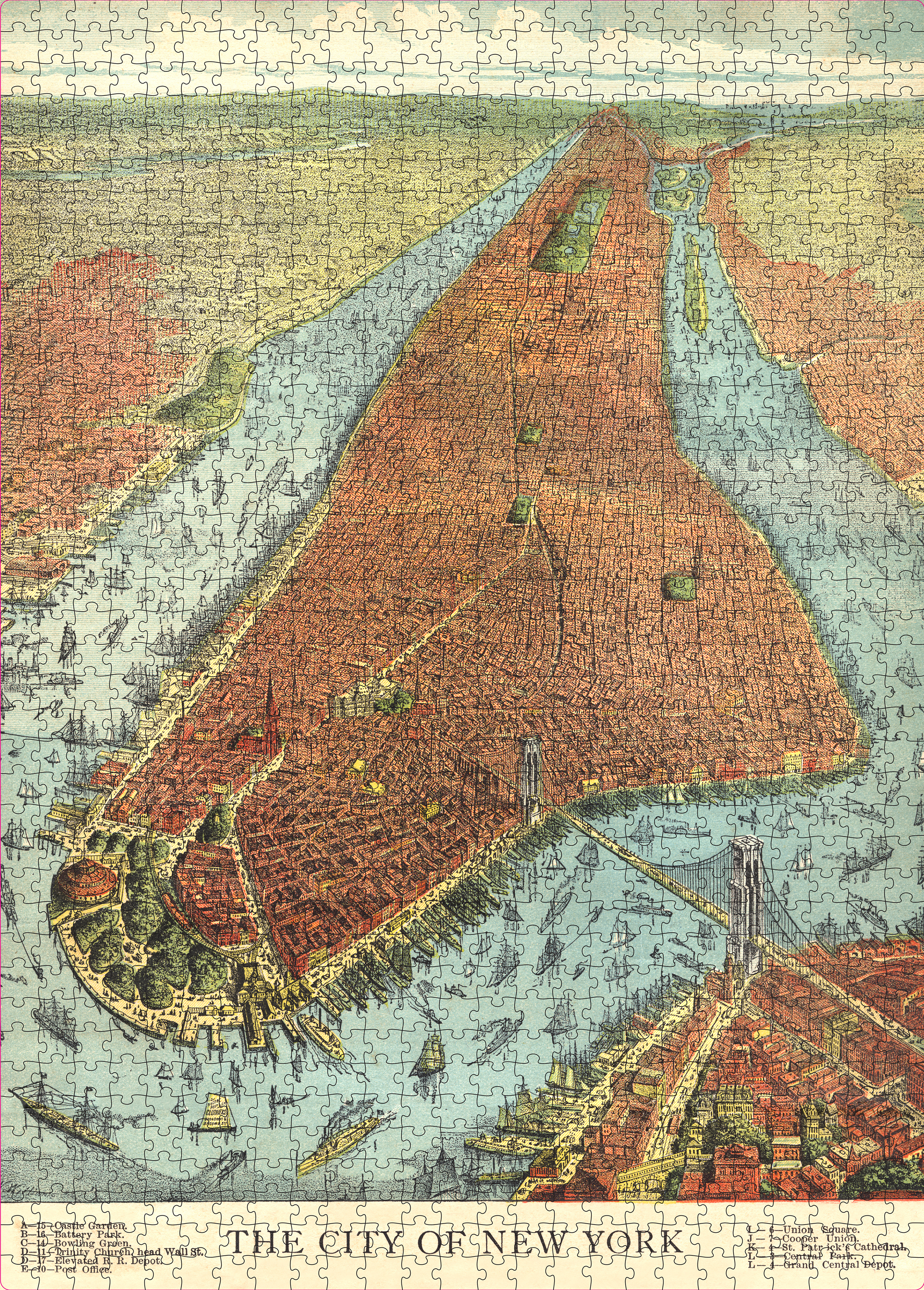 John Derian Paper Goods: The City of New York 750-Piece Puzzle